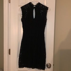 Black mini dress from bebe